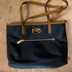 Micheal Kors Blue Nylon Purse